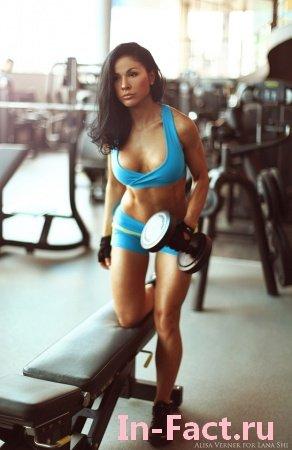 18 фото фитнес девушки Алисы Вернер